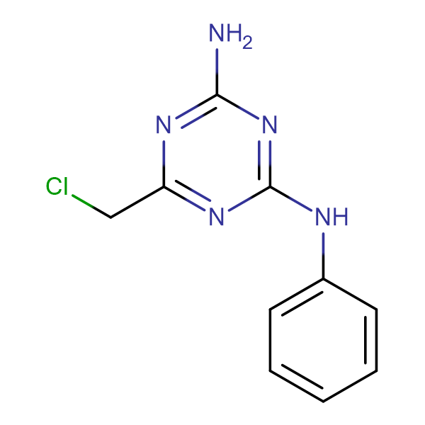 6-(chloromethyl)-N-phenyl-1,3,5-triazine-2,4-diamine