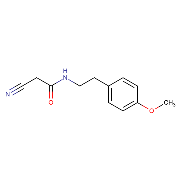 2-cyano-N-[2-(4-methoxyphenyl)ethyl]acetamide