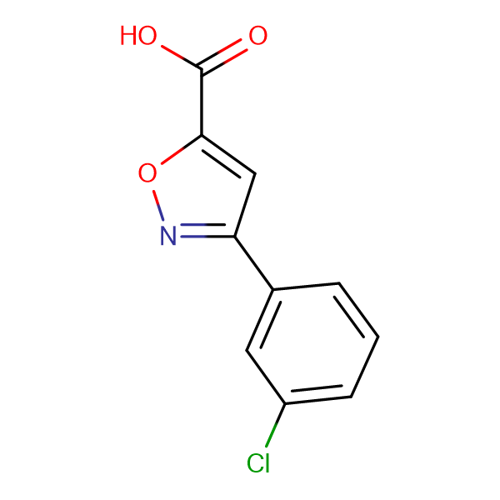 3-(3-chlorophenyl)-1,2-oxazole-5-carboxylic acid