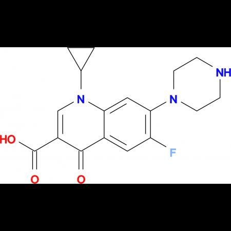 1-cyclopropyl-6-fluoro-4-oxo-7-piperazin-1-yl-1,4-dihydroquinoline-3-carboxylic acid