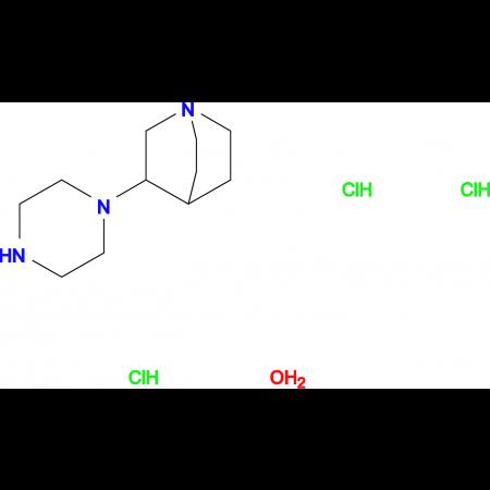 3-(1-piperazinyl)quinuclidine trihydrochloride hydrate