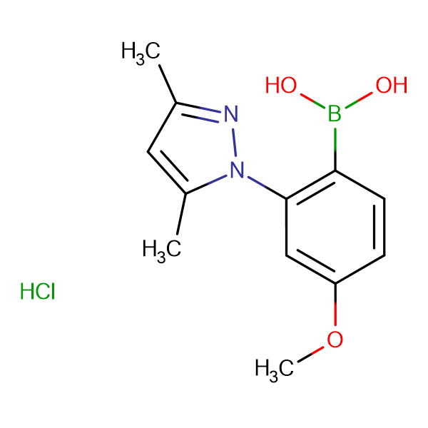 [2-(3,5-dimethyl-1H-pyrazol-1-yl)-4-methoxyphenyl]boronic acid hydrochloride