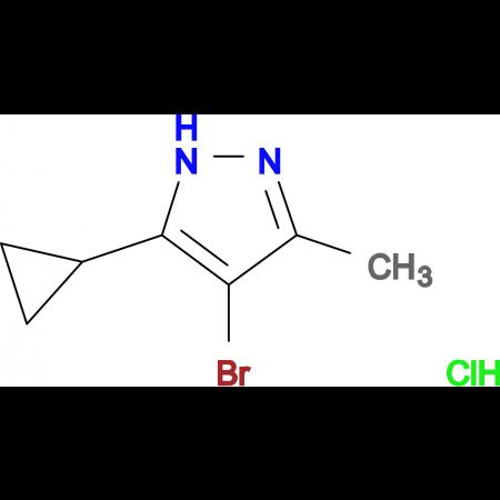 4-bromo-5-cyclopropyl-3-methyl-1H-pyrazole hydrochloride