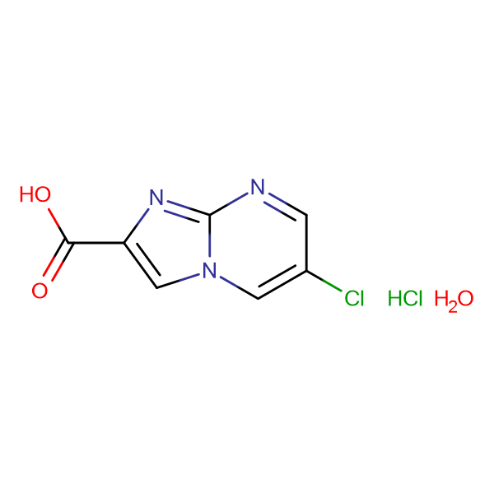 6-chloroimidazo[1,2-a]pyrimidine-2-carboxylic acid hydrochloride hydrate