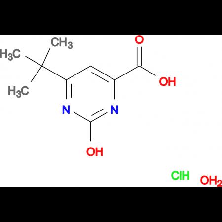 6-tert-butyl-2-hydroxy-4-pyrimidinecarboxylic acid hydrochloride hydrate