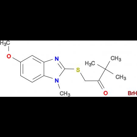 1-[(5-methoxy-1-methyl-1H-benzimidazol-2-yl)thio]-3,3-dimethyl-2-butanone hydrobromide