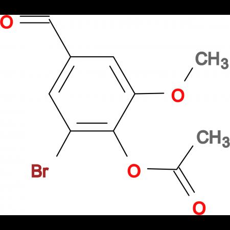 2-bromo-4-formyl-6-methoxyphenyl acetate