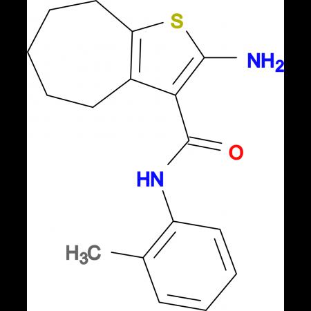 2-amino-N-(2-methylphenyl)-5,6,7,8-tetrahydro-4H-cyclohepta[b]thiophene-3-carboxamide