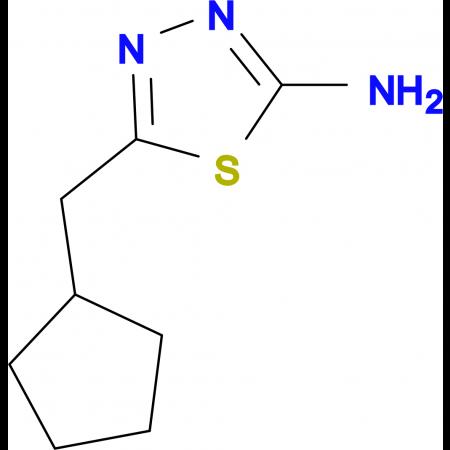 5-(cyclopentylmethyl)-1,3,4-thiadiazol-2-amine