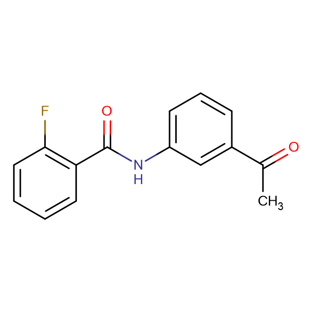 N-(3-acetylphenyl)-2-fluorobenzamide