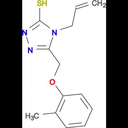 4-allyl-5-[(2-methylphenoxy)methyl]-4H-1,2,4-triazole-3-thiol