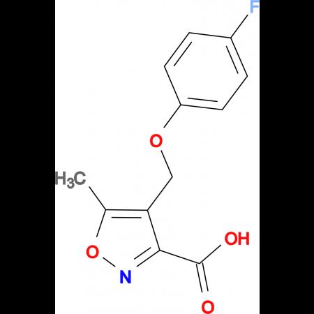 4-[(4-fluorophenoxy)methyl]-5-methylisoxazole-3-carboxylic acid
