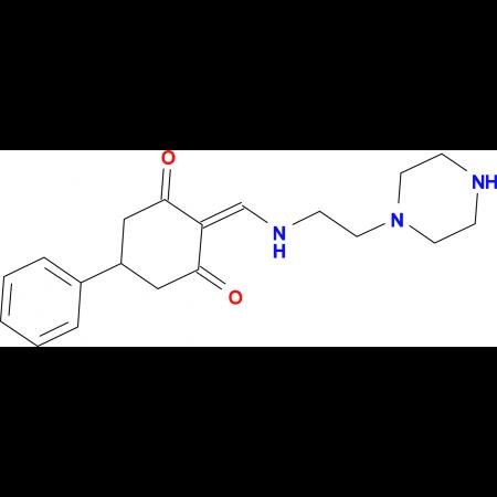 5-phenyl-2-{[(2-piperazin-1-ylethyl)amino]methylene}cyclohexane-1,3-dione
