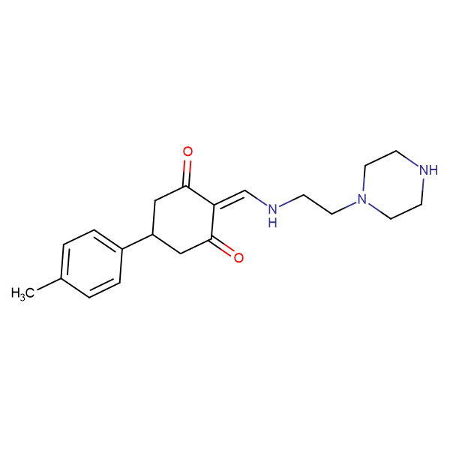 5-(4-methylphenyl)-2-[(2-piperazin-1-ylethylamino)methylidene]cyclohexane-1,3-dione