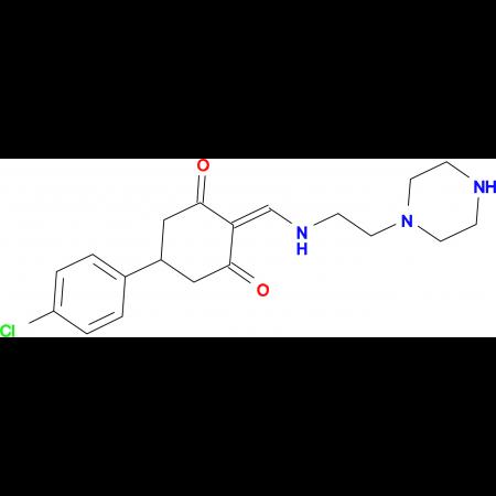 5-(4-chlorophenyl)-2-{[(2-piperazin-1-ylethyl)amino]methylene}cyclohexane-1,3-dione