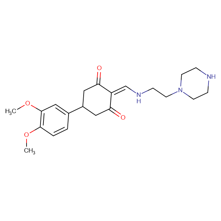 5-(3,4-dimethoxyphenyl)-2-[(2-piperazin-1-ylethylamino)methylidene]cyclohexane-1,3-dione
