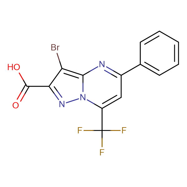 3-bromo-5-phenyl-7-(trifluoromethyl)pyrazolo[1,5-a]pyrimidine-2-carboxylic acid
