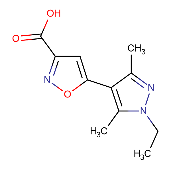 5-(1-ethyl-3,5-dimethyl-1H-pyrazol-4-yl)isoxazole-3-carboxylic acid