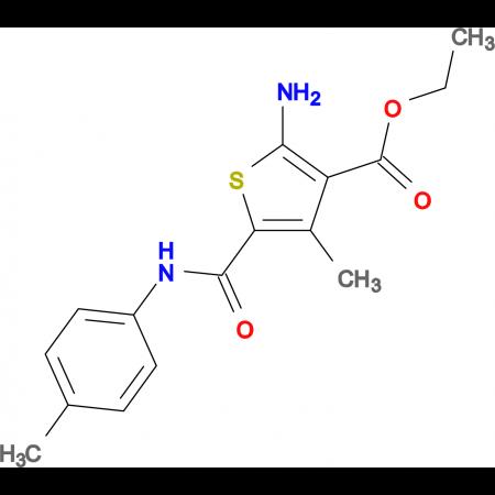 ethyl 2-amino-4-methyl-5-{[(4-methylphenyl)amino]carbonyl}thiophene-3-carboxylate