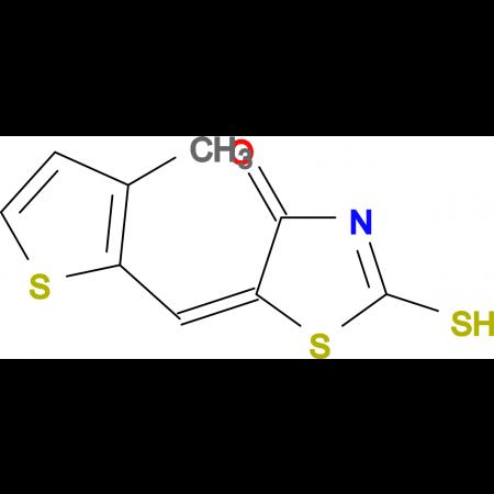 (5E)-2-mercapto-5-[(3-methyl-2-thienyl)methylene]-1,3-thiazol-4(5H)-one