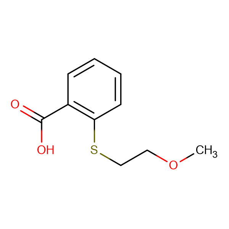 2-[(2-methoxyethyl)thio]benzoic acid