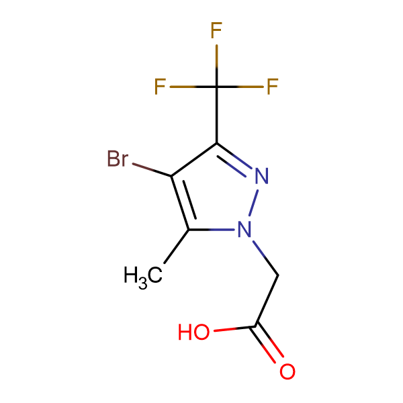 [4-bromo-5-methyl-3-(trifluoromethyl)-1H-pyrazol-1-yl]acetic acid