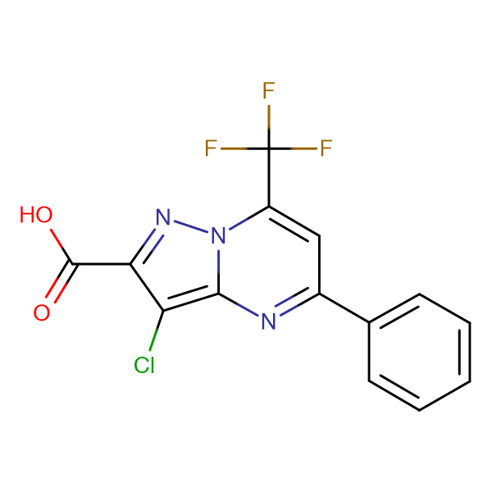 3-chloro-5-phenyl-7-(trifluoromethyl)pyrazolo[1,5-a]pyrimidine-2-carboxylic acid