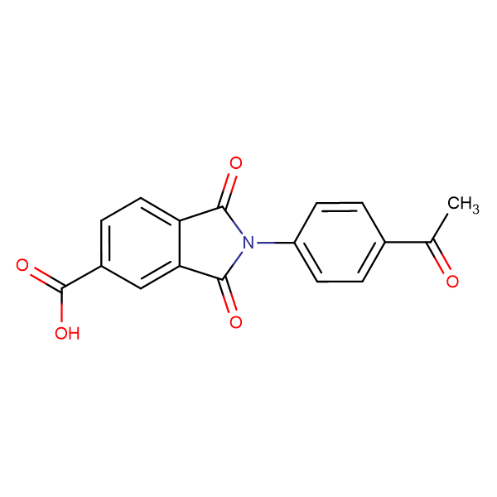 2-(4-acetylphenyl)-1,3-dioxoisoindoline-5-carboxylic acid