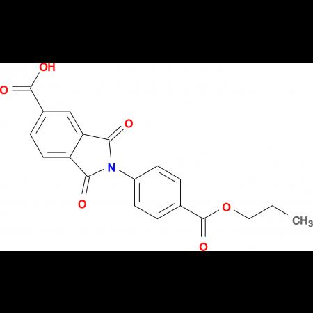 1,3-dioxo-2-[4-(propoxycarbonyl)phenyl]isoindoline-5-carboxylic acid