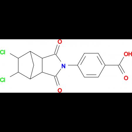 4-(5,6-dichloro-1,3-dioxooctahydro-2H-4,7-methanoisoindol-2-yl)benzoic acid