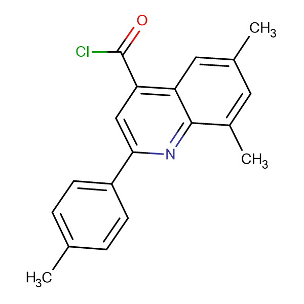 6,8-dimethyl-2-(4-methylphenyl)quinoline-4-carbonyl chloride