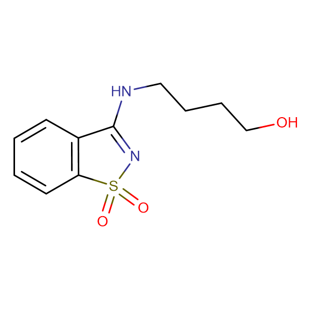 4-[(1,1-dioxido-1,2-benzisothiazol-3-yl)amino]butan-1-ol