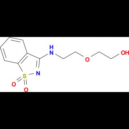 2-{2-[(1,1-dioxido-1,2-benzisothiazol-3-yl)amino]ethoxy}ethanol