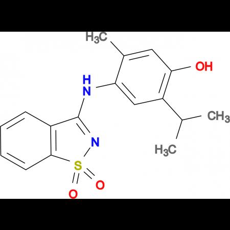 4-[(1,1-dioxido-1,2-benzisothiazol-3-yl)amino]-2-isopropyl-5-methylphenol