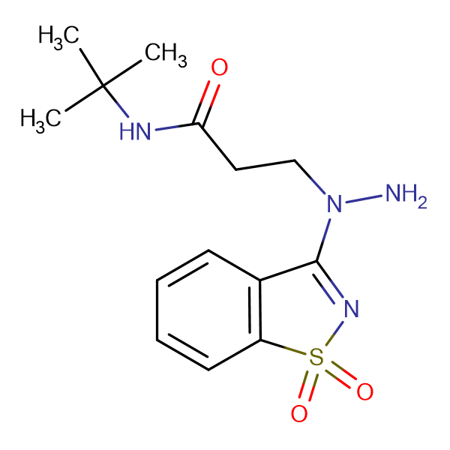 N-(tert-butyl)-3-[1-(1,1-dioxido-1,2-benzisothiazol-3-yl)hydrazino]propanamide