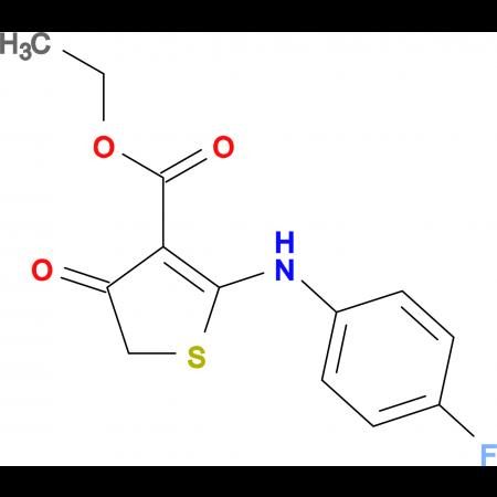 ethyl 2-[(4-fluorophenyl)amino]-4-oxo-4,5-dihydrothiophene-3-carboxylate
