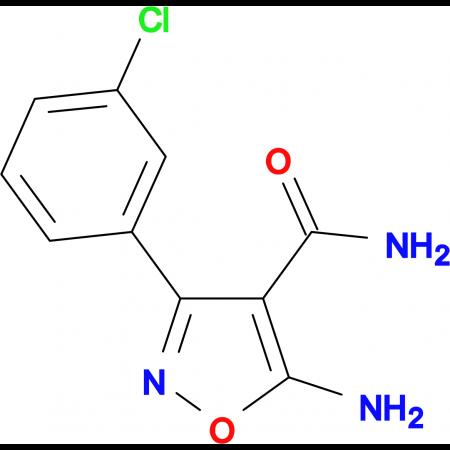 5-amino-3-(3-chlorophenyl)isoxazole-4-carboxamide