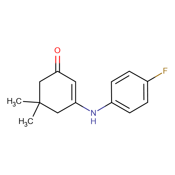 3-[(4-fluorophenyl)amino]-5,5-dimethylcyclohex-2-en-1-one