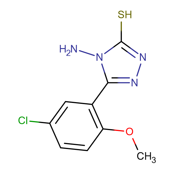 4-amino-5-(5-chloro-2-methoxyphenyl)-4H-1,2,4-triazole-3-thiol