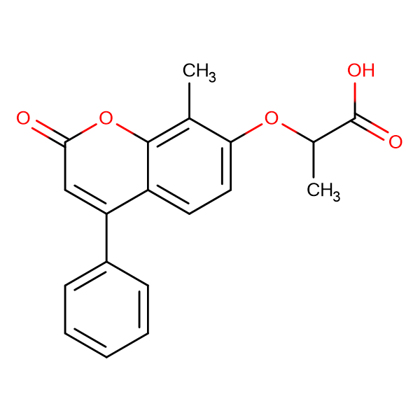 2-[(8-methyl-2-oxo-4-phenyl-2H-chromen-7-yl)oxy]propanoic acid