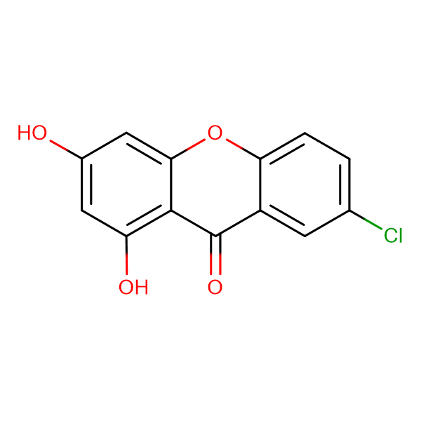 7-chloro-1,3-dihydroxy-9H-xanthen-9-one