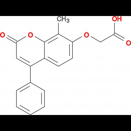 [(8-methyl-2-oxo-4-phenyl-2H-chromen-7-yl)oxy]acetic acid