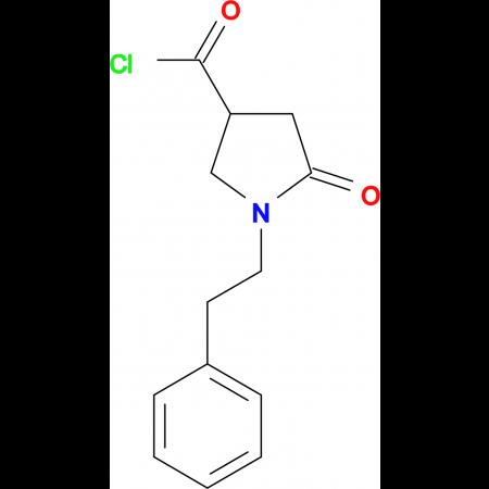 5-oxo-1-(2-phenylethyl)pyrrolidine-3-carbonyl chloride