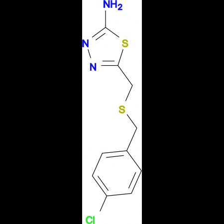 5-{[(4-chlorobenzyl)thio]methyl}-1,3,4-thiadiazol-2-amine