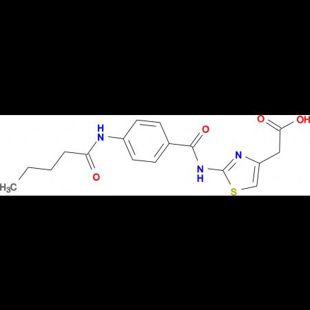 (2-{[4-(pentanoylamino)benzoyl]amino}-1,3-thiazol-4-yl)acetic acid