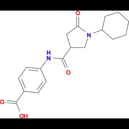 4-{[(1-cyclohexyl-5-oxopyrrolidin-3-yl)carbonyl]amino}benzoic acid
