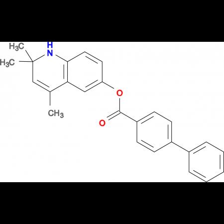 2,2,4-trimethyl-1,2-dihydroquinolin-6-yl biphenyl-4-carboxylate