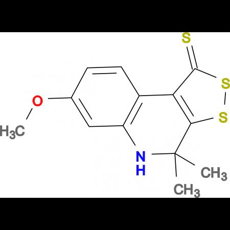 7-methoxy-4,4-dimethyl-4,5-dihydro-1H-[1,2]dithiolo[3,4-c]quinoline-1-thione