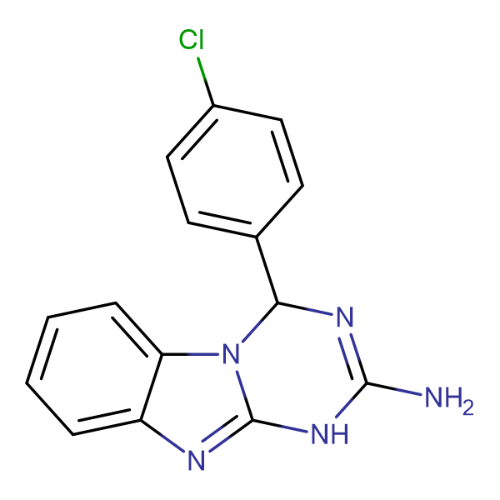 4-(4-chlorophenyl)-1,4-dihydro[1,3,5]triazino[1,2-a]benzimidazol-2-amine