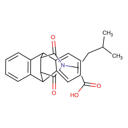2-(16,18-dioxo-17-azapentacyclo[6.6.5.0~2,7~.0~9,14~.0~15,19~]nonadeca-2,4,6,9,11,13-hexaen-17-yl)-4-methylpentanoic acid